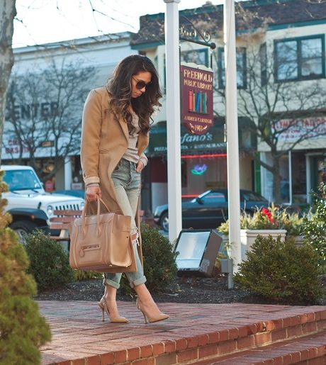 Boyfriend Jeans and Camel Trench