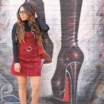 fall suede dress