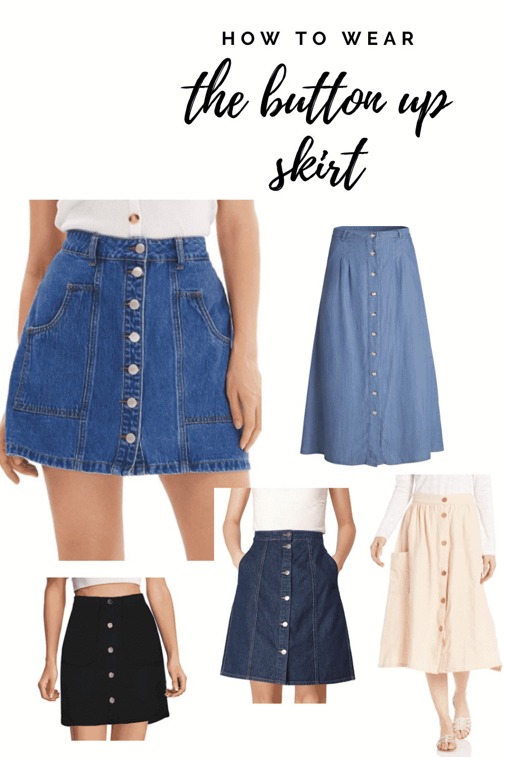 How to Wear Button Up Skirt Bay's Style Diary