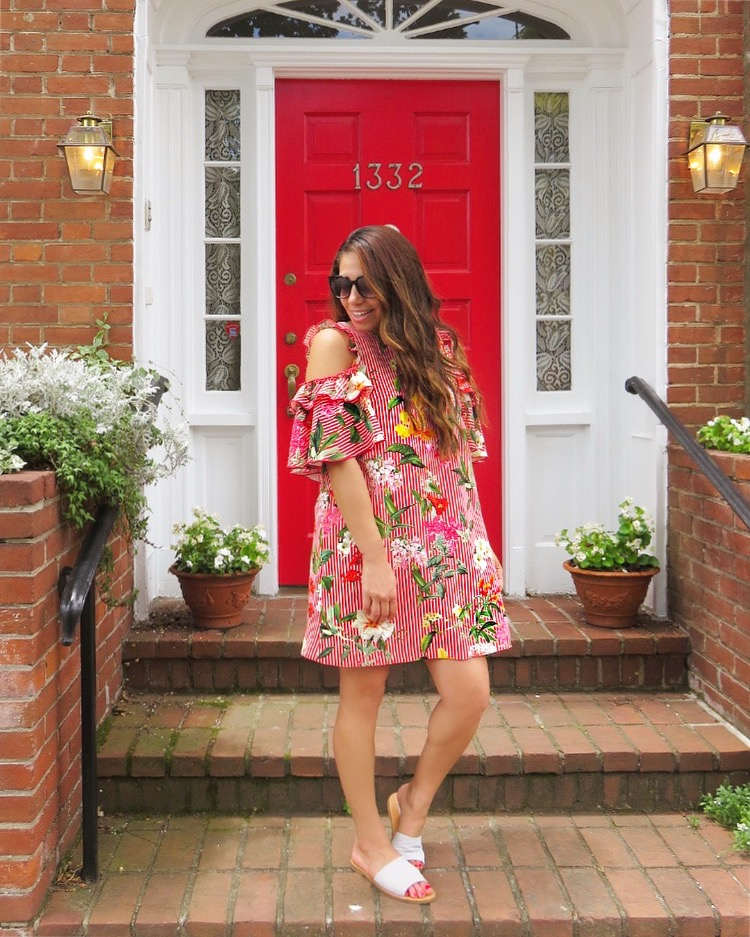 Red, White & Florals