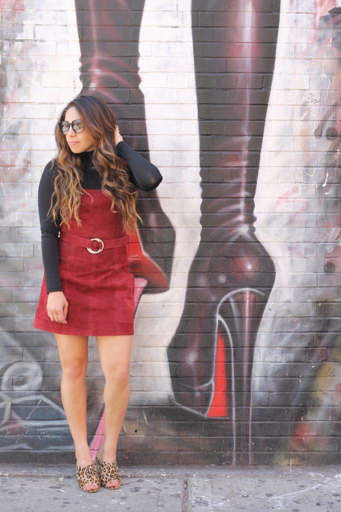 fall suede dress